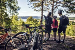 Turism - familj som cyklar