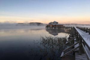 Ulricehamns Kallbadhus i dimma